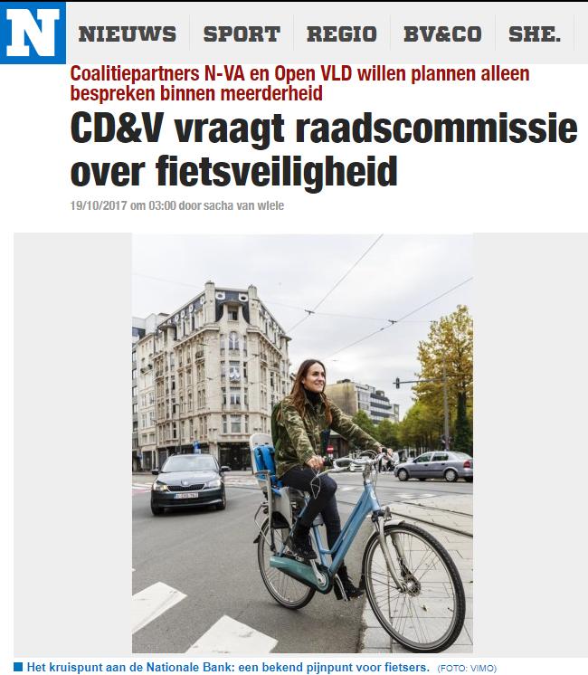 Kris Peeters vraagt raadscommissie rond fietsveiligheid (GVA/HNB)